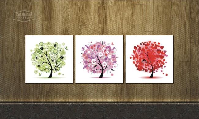主页 原创专区 室内装饰|无框画|移门 无框画 > 彩色矢量树无框画设计