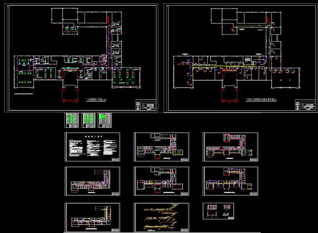 【DWG】安徽某办公楼中央空调系统设计图Ccad2014路径怎么沿阵列图片