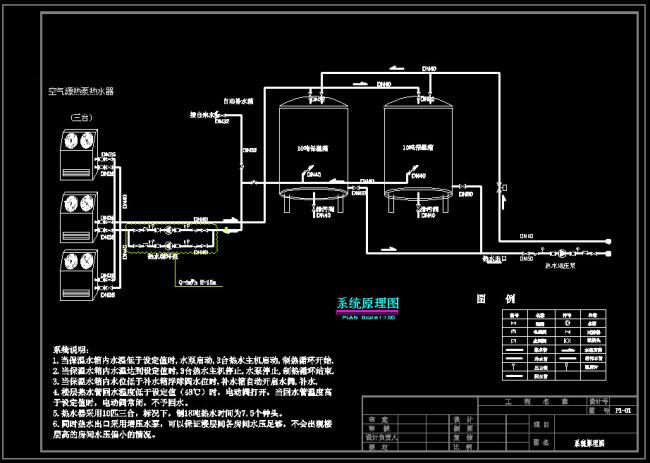 系统 原理图 设计图 cad 图纸 源文件 素材 通风 全空气系统 说明