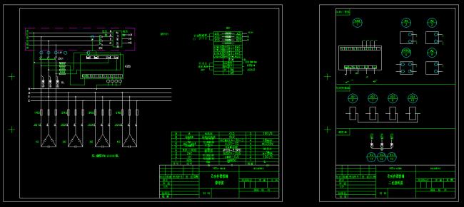 【dwg】低压无功补偿原理图及接线图cad图纸
