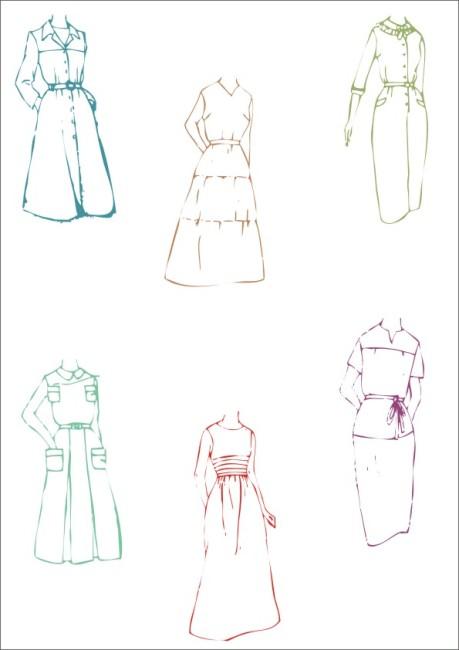 【cdr】夏季连衣裙服装设计