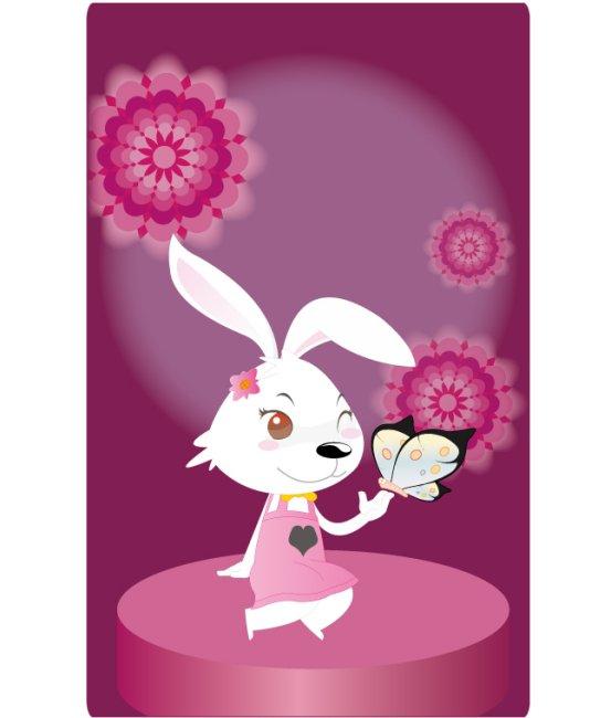 兔年生肖 可爱卡通形象 图图2号 女生版 长耳朵 小动物 俏皮 小兔兔