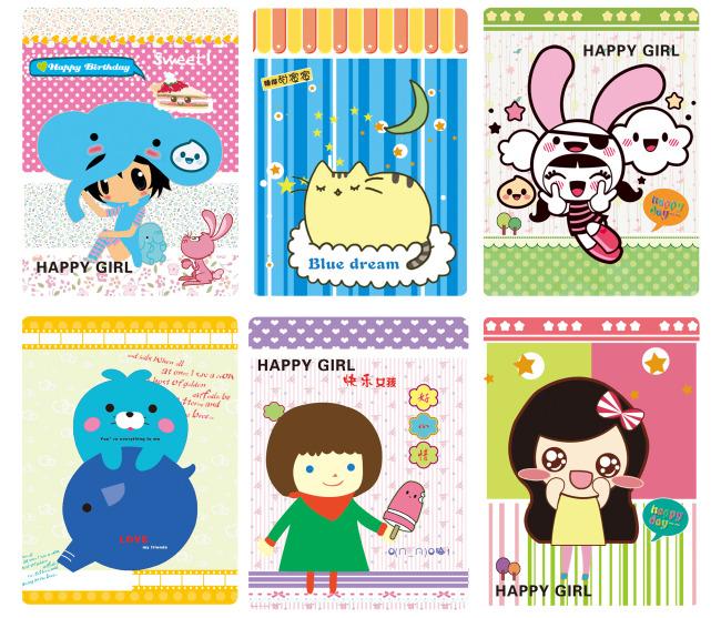 本子 手提袋 本本封面 本本设计 韩国文具系列 卡哇伊 萌物 笔记本 软