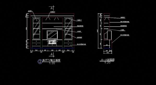 电视柜cad图纸 背景墙cad图纸 电视柜背景墙立面图 cad电视柜背景墙
