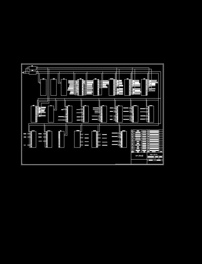 电气plc接线图cad图纸