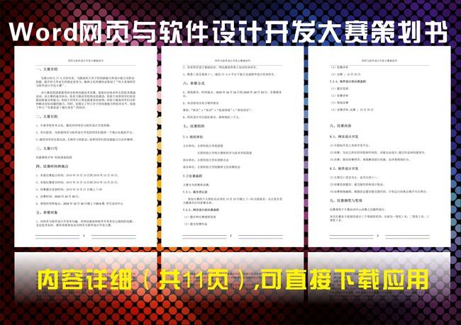 【】网页与软件设计开发大赛策划书