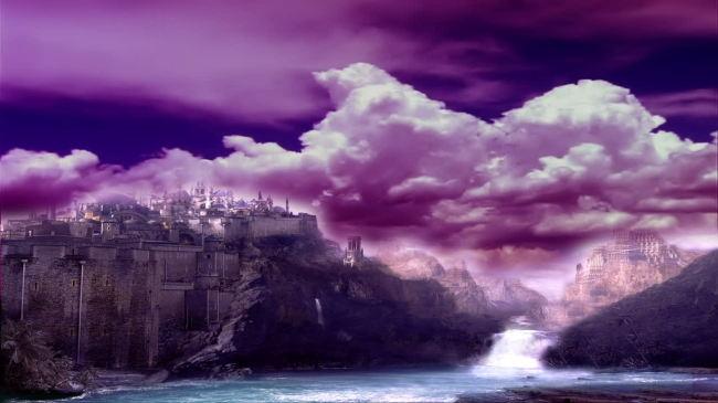 qq头像女生风景紫色