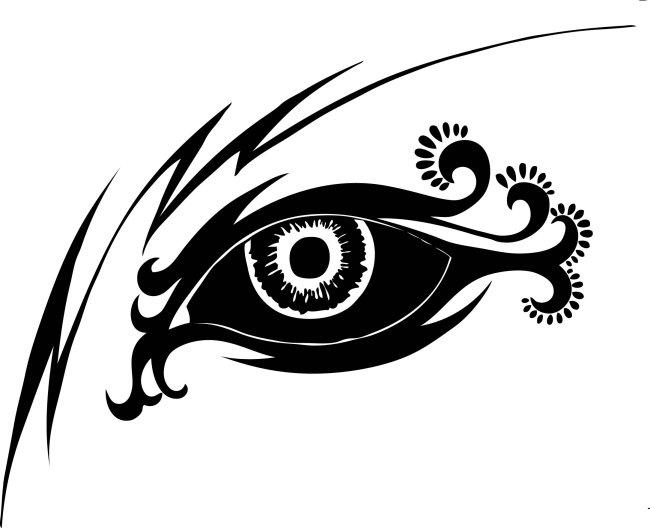关键词: 插画 眼睛 花纹 涂鸦 源文件 黑白矢量图 说明:创意眼睛花纹