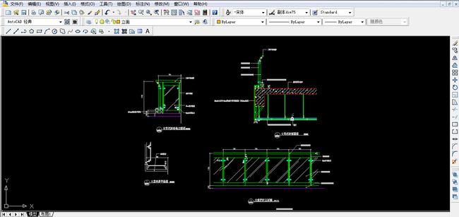 栏杆CAD图纸设计附带施工材质说明