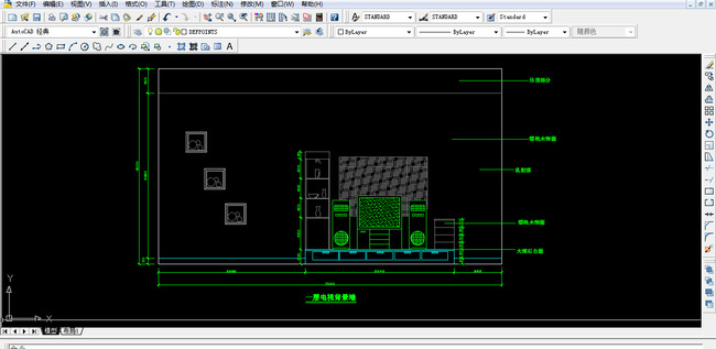电视柜CAD图纸设计附带施工材质说明