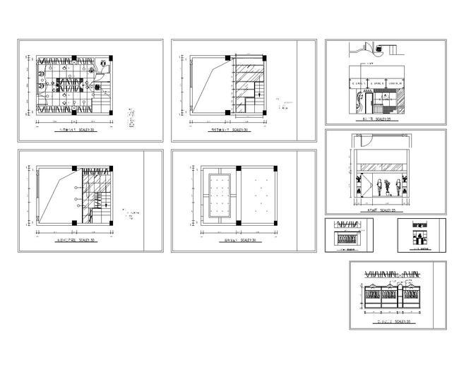 【】小服装店的设计图cad图纸设计下载