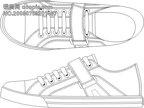关键词: 个性漂亮的休闲鞋子 个性漂亮的休闲鞋子 微利设计 插画图片