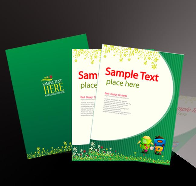 画册设计|版式|菜谱模板 教育画册设计(封面) > 绿色教育画册封页模板