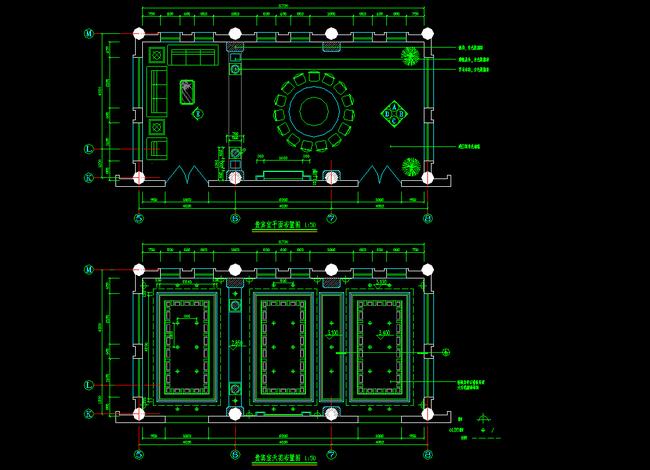 酒店施工图 工装施工图 立面图 平面图 大样图 节点详图 中餐厅设计