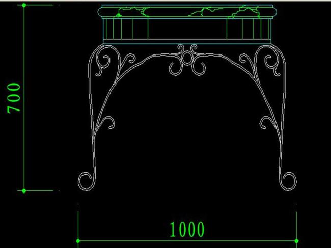 【dwg】桌子矢量cad图纸