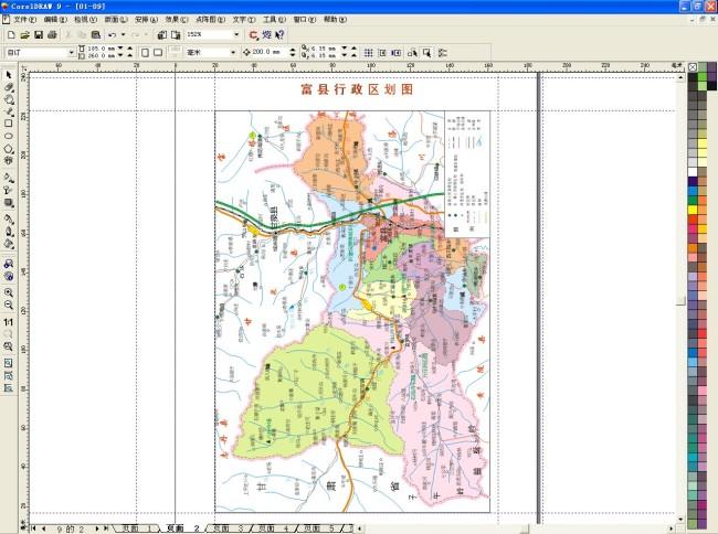 纯手工 线条 地图图片