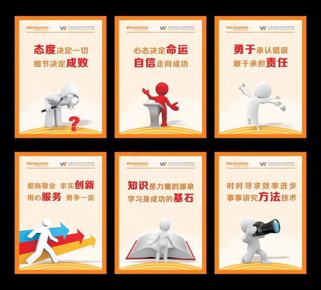 【】3d商务小人电子科技公司企业文化展板模板