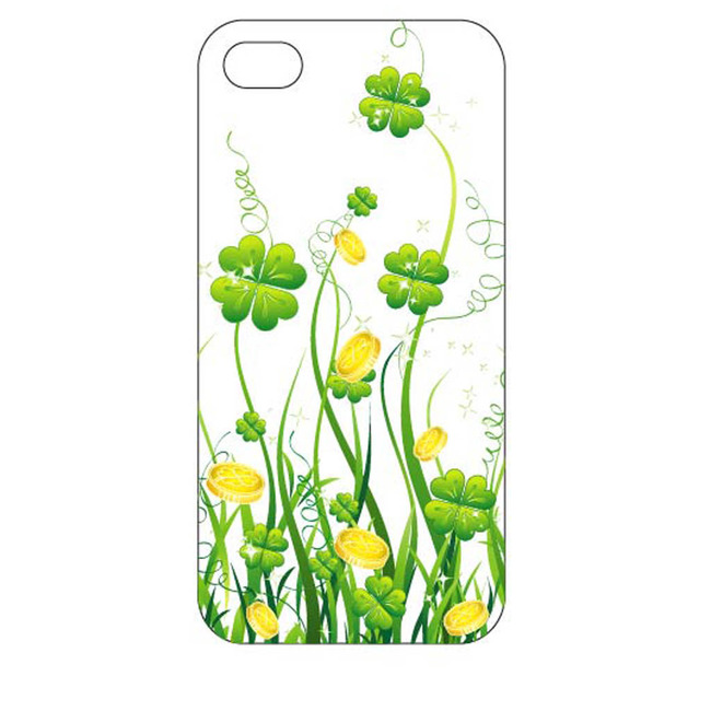【】绿色花卉创意手机壳设计模板