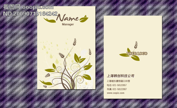 【psd】服装行业名片模板下载
