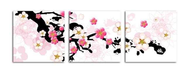 画芯 挂画 壁画 绘画 素材 图片 高清 梅花 浪漫 唯美 梦幻 背景 花瓣