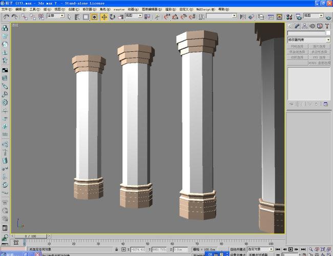 > 柱子017  关键词: 柱子 柱子模型 3d柱子 罗马柱 欧式柱子 3d柱子模