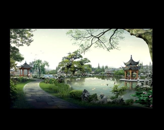 山水风景画 > 江南印象山水风景画  关键词: 水墨江南风景画 山水