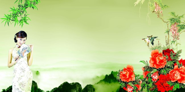 2013蛇年 > 古典风韵海报  竹子山水画 山水 山水画 山水风景 山水