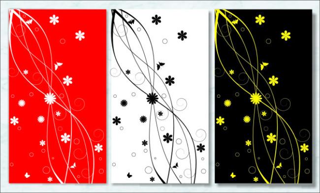 绘画 黑白 抽象 简约 现代 矢量装饰画 美术绘画 文化艺术 说明:花纹