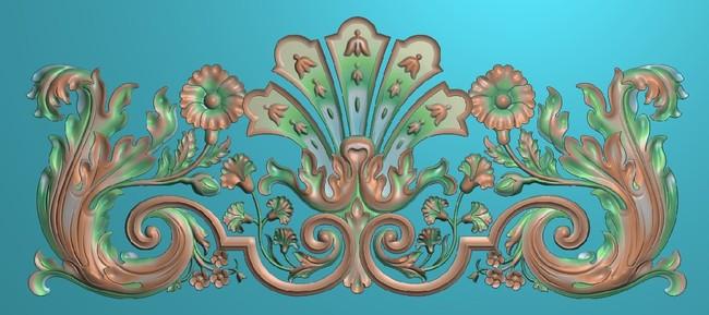 【jdp】欧式洋花浮雕图木门雕花