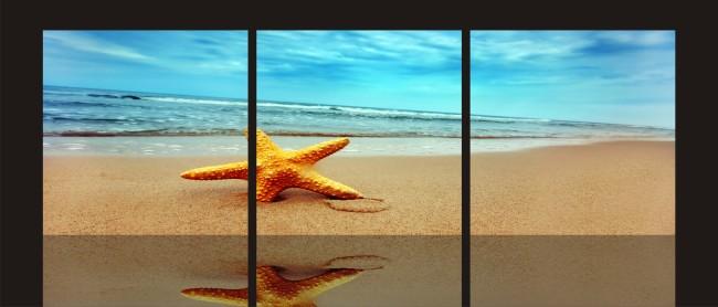 【cdr】沙滩海洋室内无框画设计