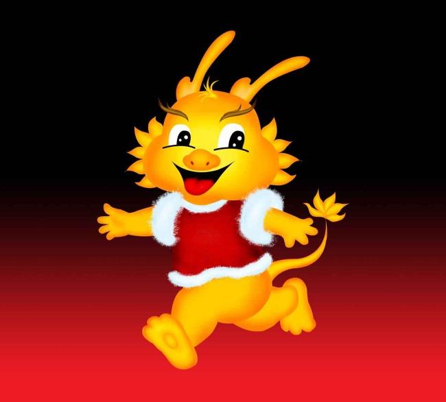 psd分层 龙年吉祥物 商场海报 新年海报 小动物 卡通动物 说明:吉祥龙