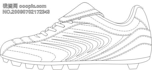简笔画 手绘 线稿 鞋 运动鞋 600_277