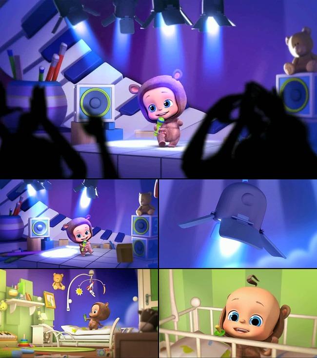 【无】经典卡通儿童动画唱歌跳舞背景视频素材
