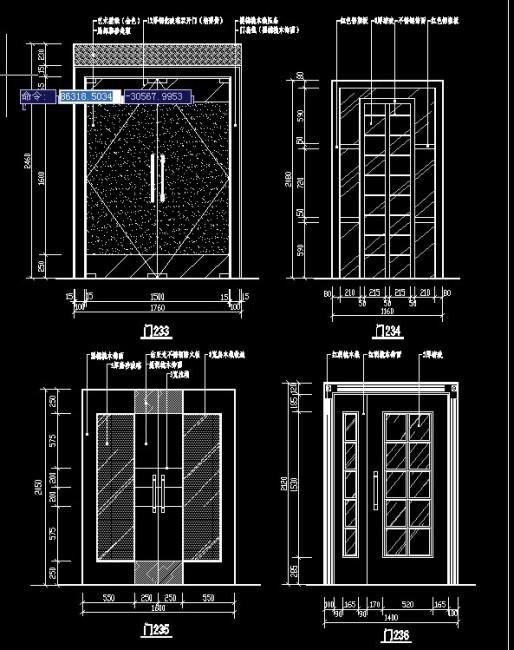 CAD平面图门