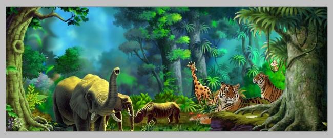 【psd】森林动物盛会_图片编号:wli950360_海报设计