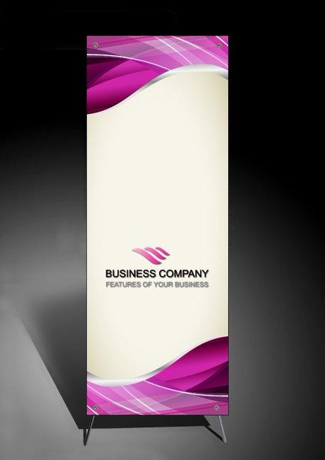 紫色丝绸质感X展架背景模板下载图片
