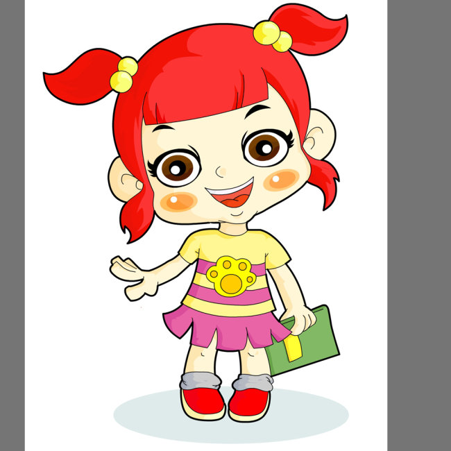 【ai】卡通动漫形象可爱的小女孩