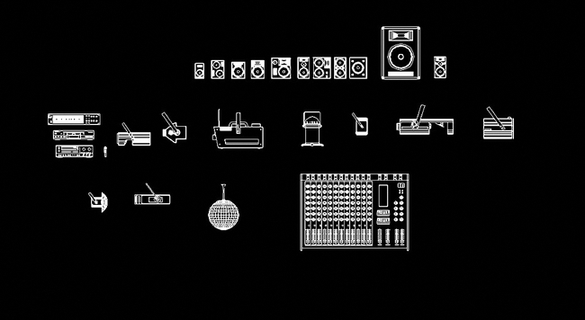 【dwg】舞台灯光音响设备cad设计图