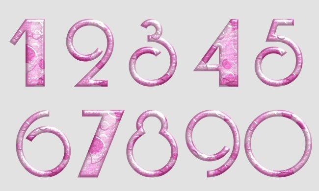 可爱数字0到9