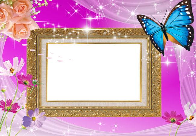主页 原创专区 全家福|婚纱模板|相册 婚纱模板 > 梦幻蝴蝶花边星光
