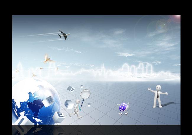 海报背景图(半成品) > 电子科技商务海报背景设计  海报底图 海报设计