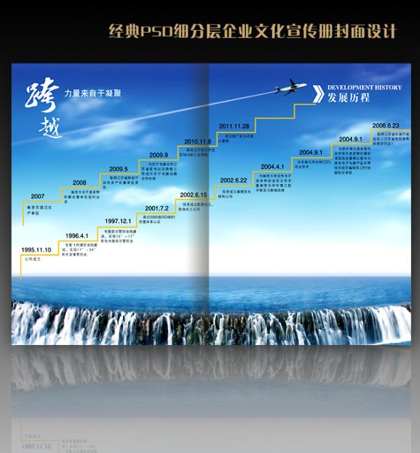 【psd】电子企业宣传册页面设计-发展历程