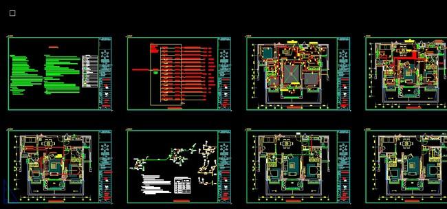 两层修改 有水管 电路 插座 开关 cad水电图 配电图 电路图 系统图cad