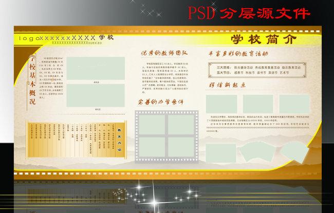 主页 原创专区 展板设计模板|x展架 学校展板设计 > 学校简介展板  关