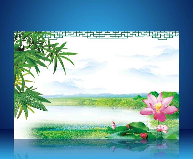 【psd】中国风水墨文化展板背景模板psd下载2