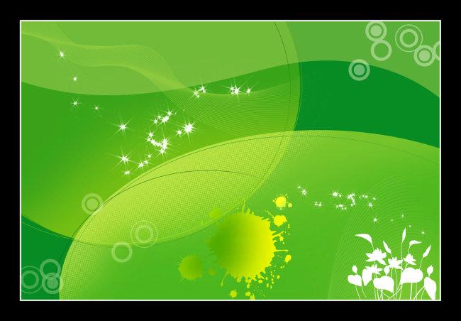 背景 psd 下载 展板素材 素材 展板底图 底图 发光 圆圈 说明:绿色