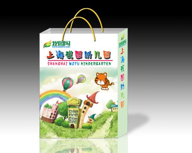 【cdr】幼儿园卡通手提袋3
