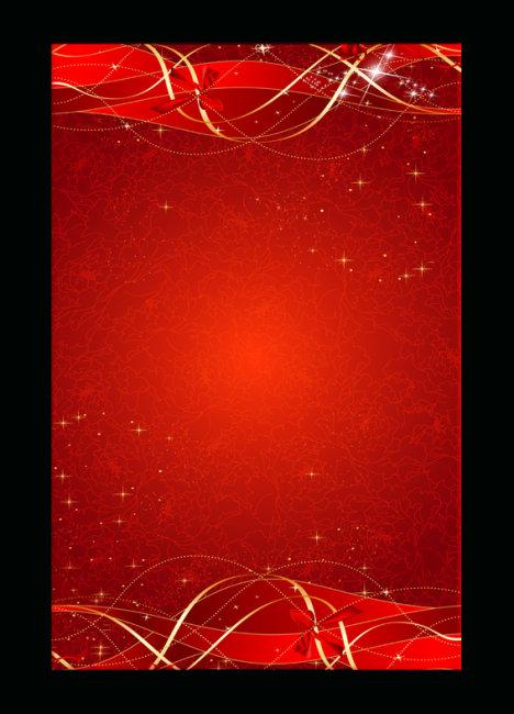 海报背景 红色丝带 海报