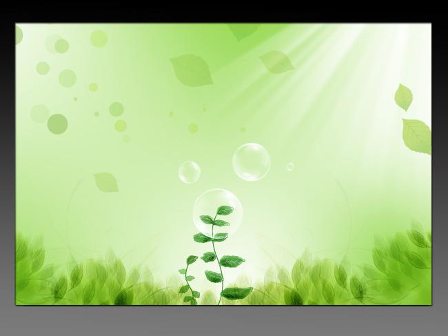 绿色 环保 树叶背景 落叶 绿叶 小树苗 透明水泡 清新自然 背景 绿草
