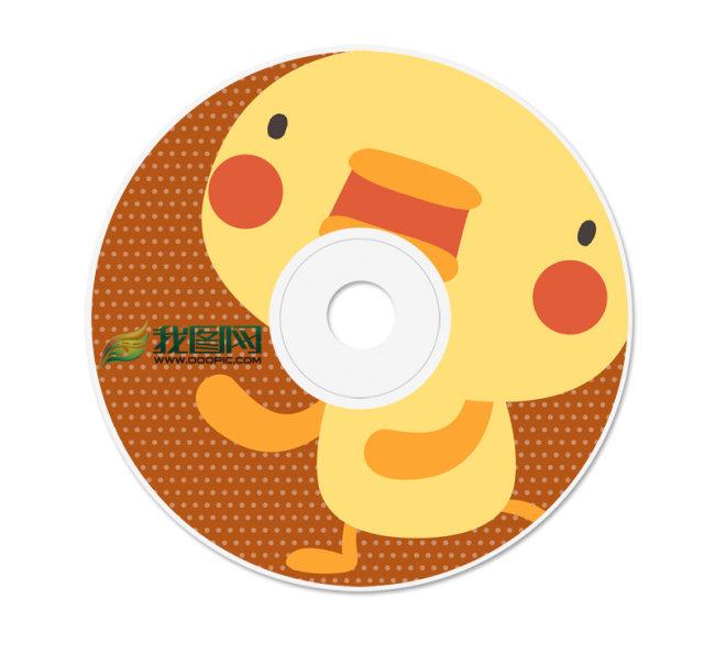 【psd】可爱卡通小鸡cd/dvd光盘封面模板